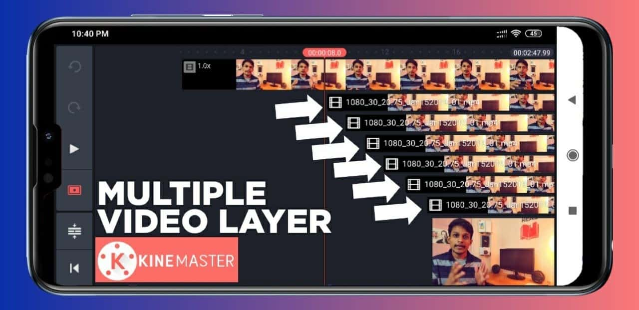 kinemaster multiple video layer