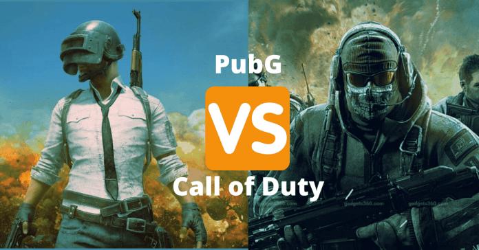PubG vs call of duty
