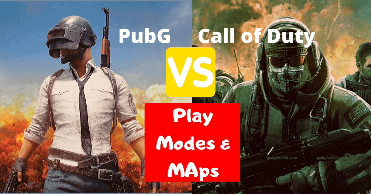 pubg vs call of duty game modes