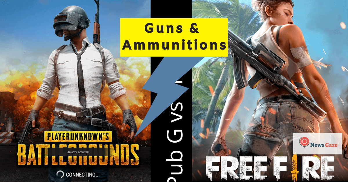 pubg vs freefire guns & ammutation-min