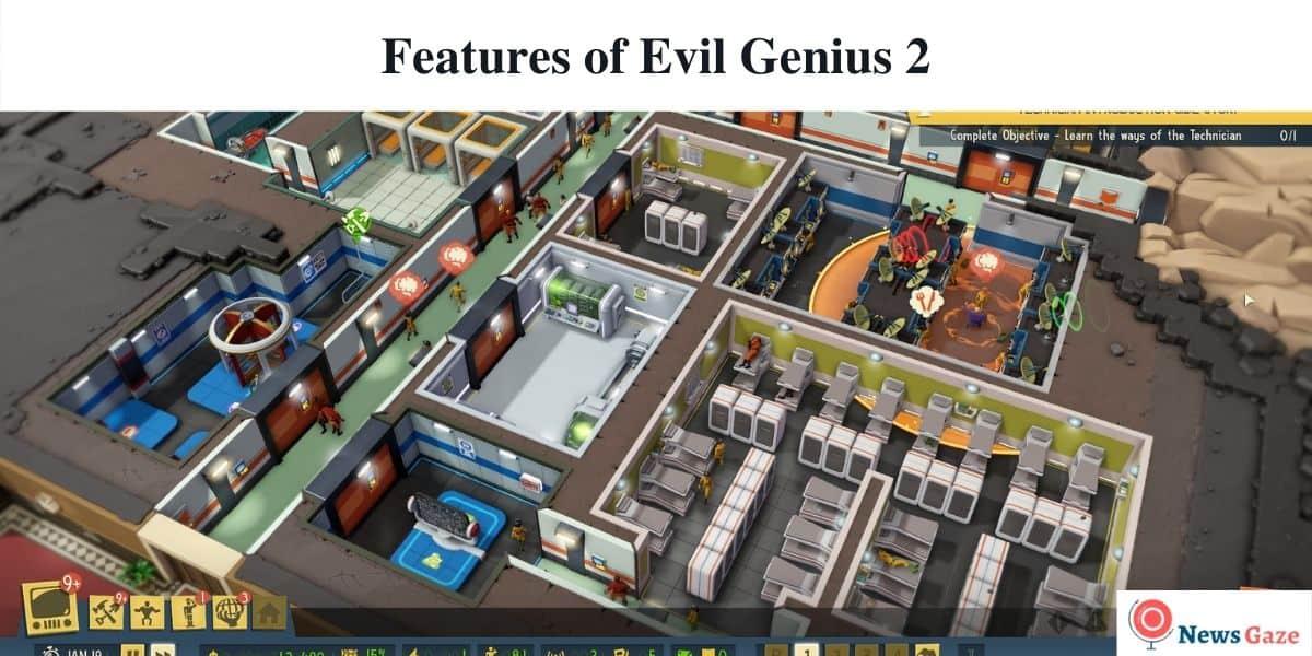 Features of Evil Genius 2